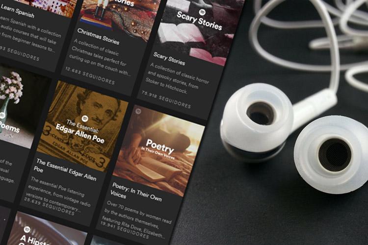 audiolivros em inglês no spotify