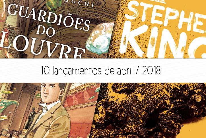 lançamentos de livros e quadrinhos abril 2018